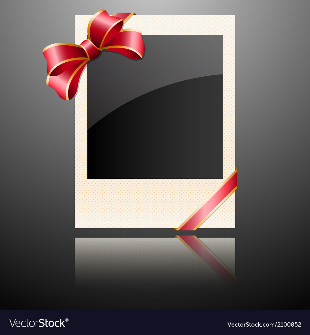 Photo with a bow vector | Price: 1 Credit (USD $1)