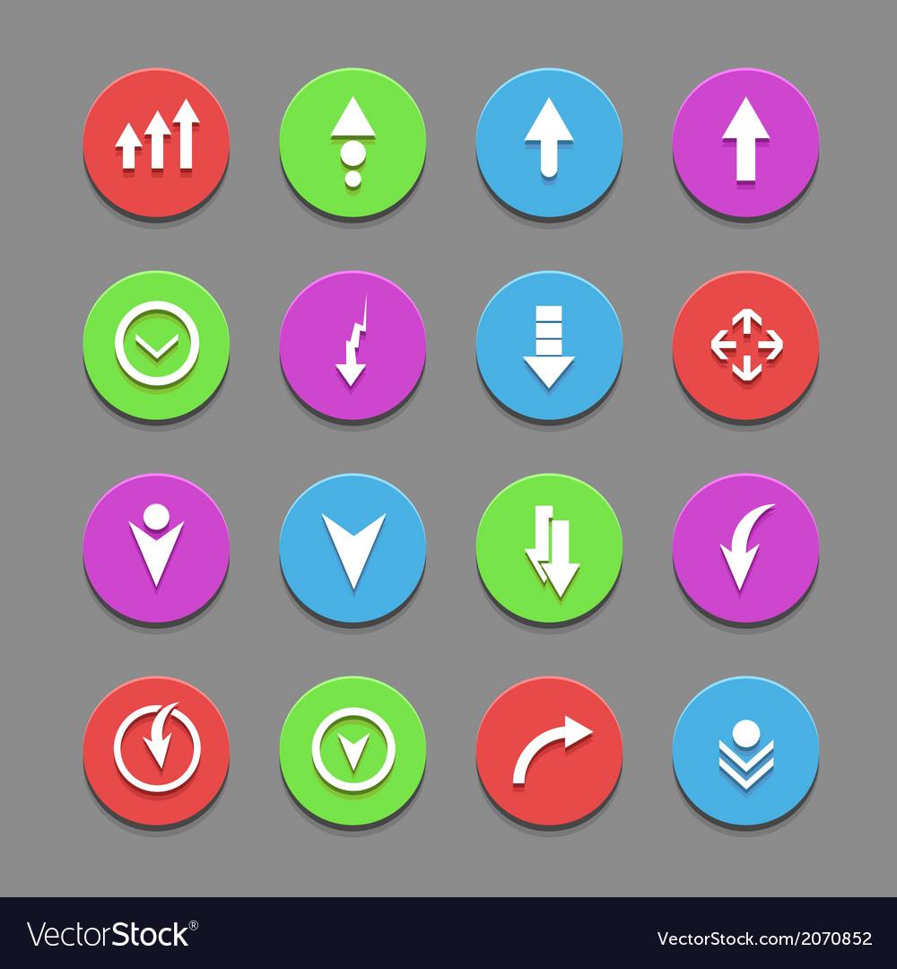 Plain round arrow icons eps10 vector | Price: 1 Credit (USD $1)