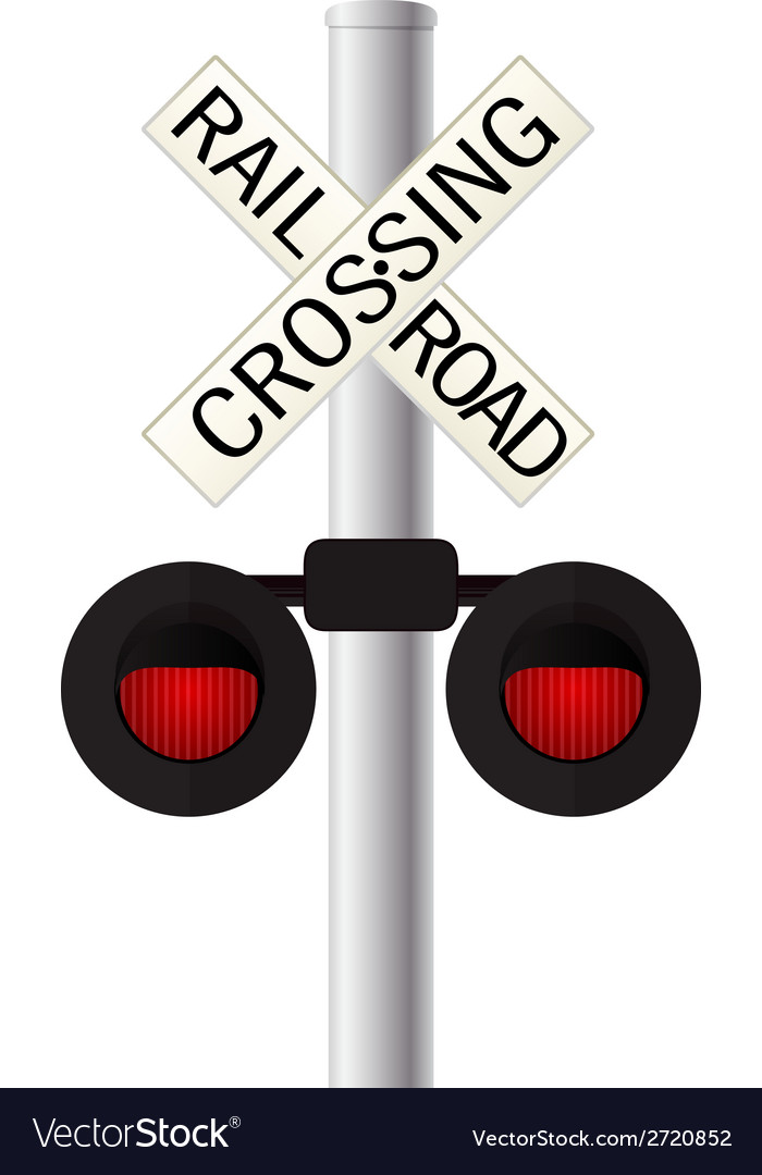 Railroad crossing sign vector | Price: 1 Credit (USD $1)