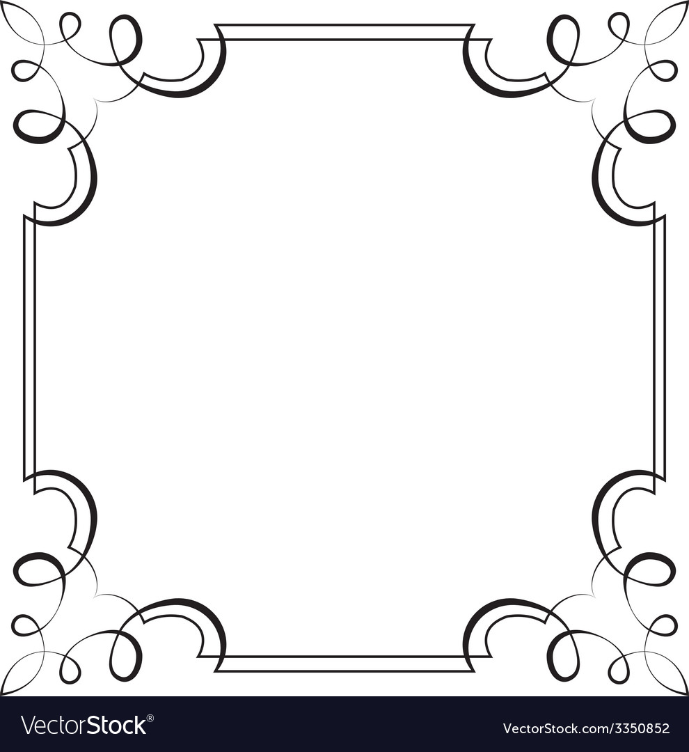 Square frame element for design vector | Price: 1 Credit (USD $1)