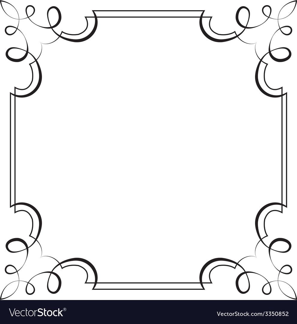 Square frame element for design vector   Price: 1 Credit (USD $1)