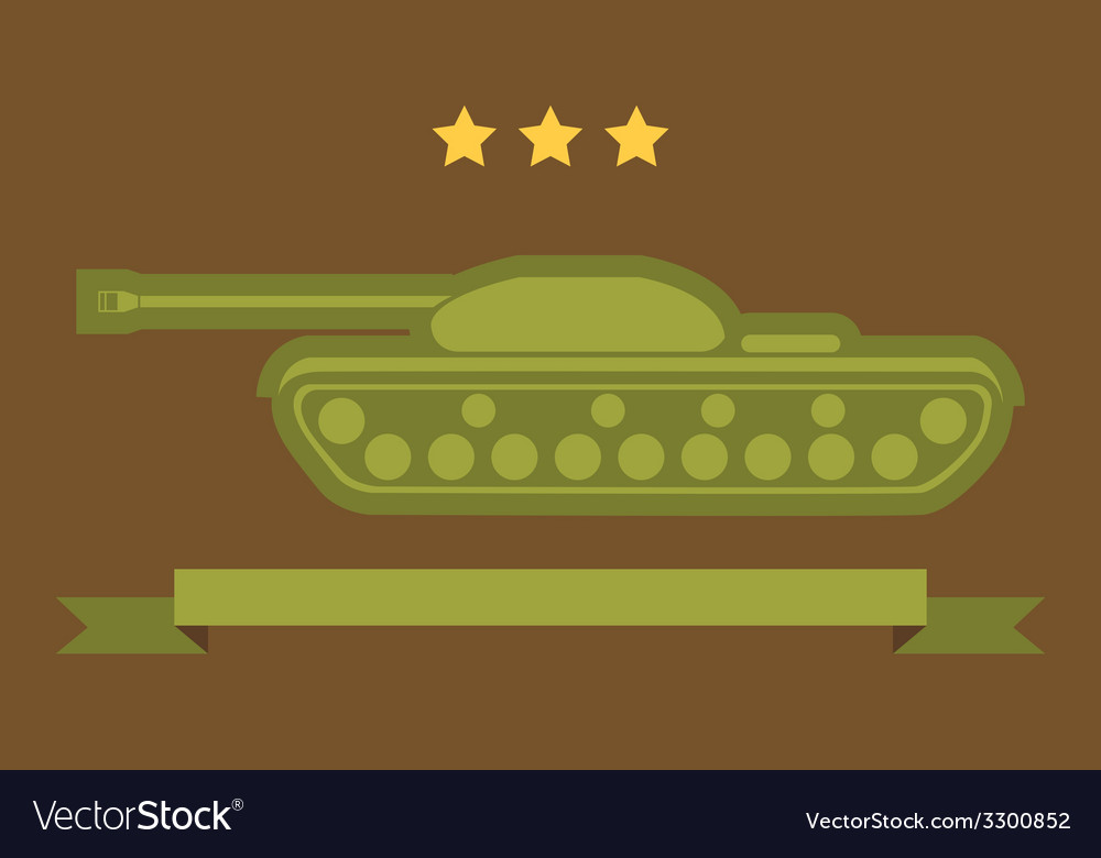 Tank flat icon vector | Price: 1 Credit (USD $1)