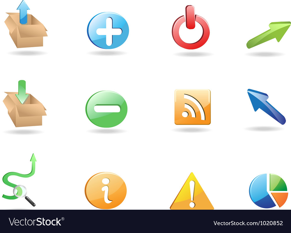 Web application 3d icon set vector | Price: 1 Credit (USD $1)