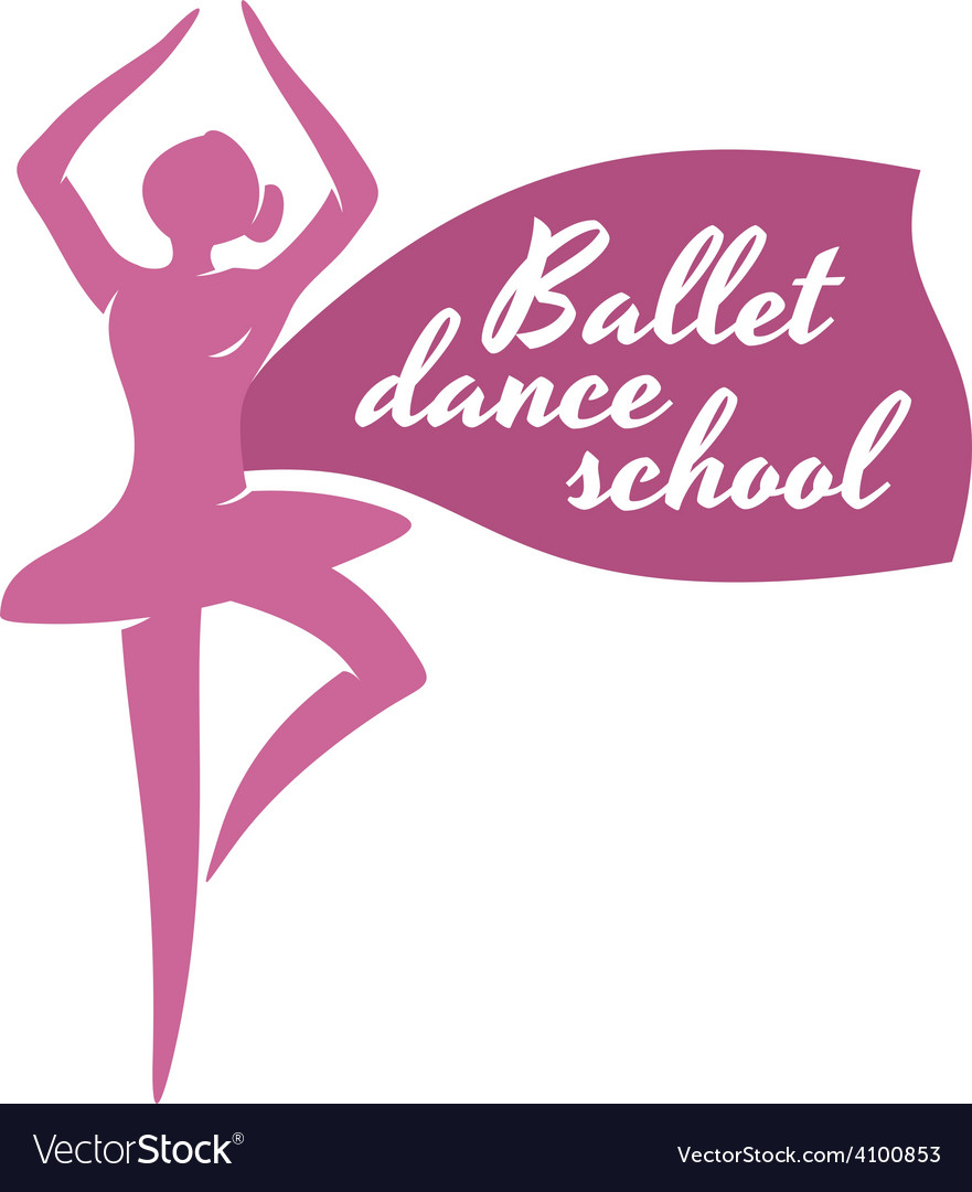 Ballet dance school logo template ballerina vector | Price: 1 Credit (USD $1)