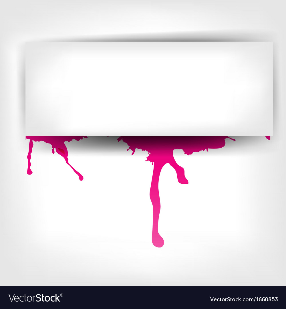 Banner with splash on abstract background vector   Price: 1 Credit (USD $1)
