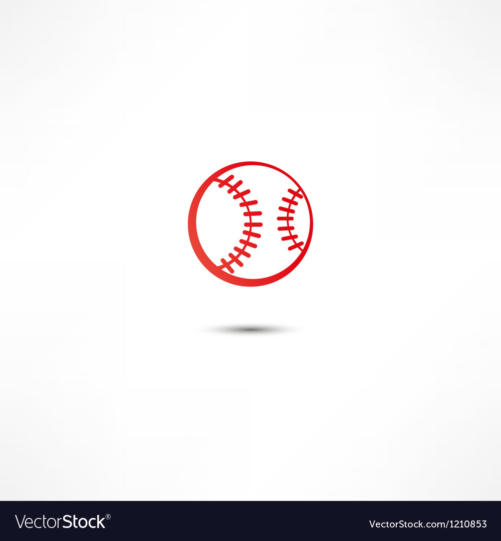 Baseball ball icon vector | Price: 1 Credit (USD $1)