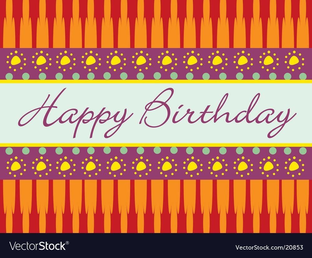 Birthday abstract greeting card vector | Price: 1 Credit (USD $1)