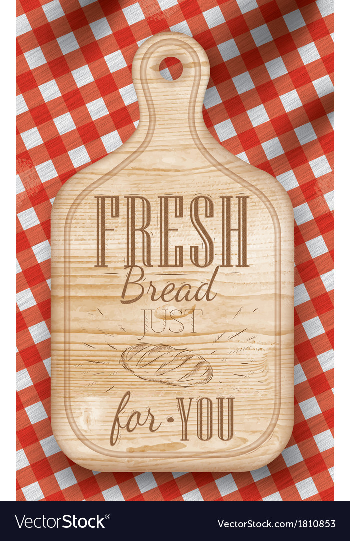 Bread cutting light board red vector | Price: 1 Credit (USD $1)