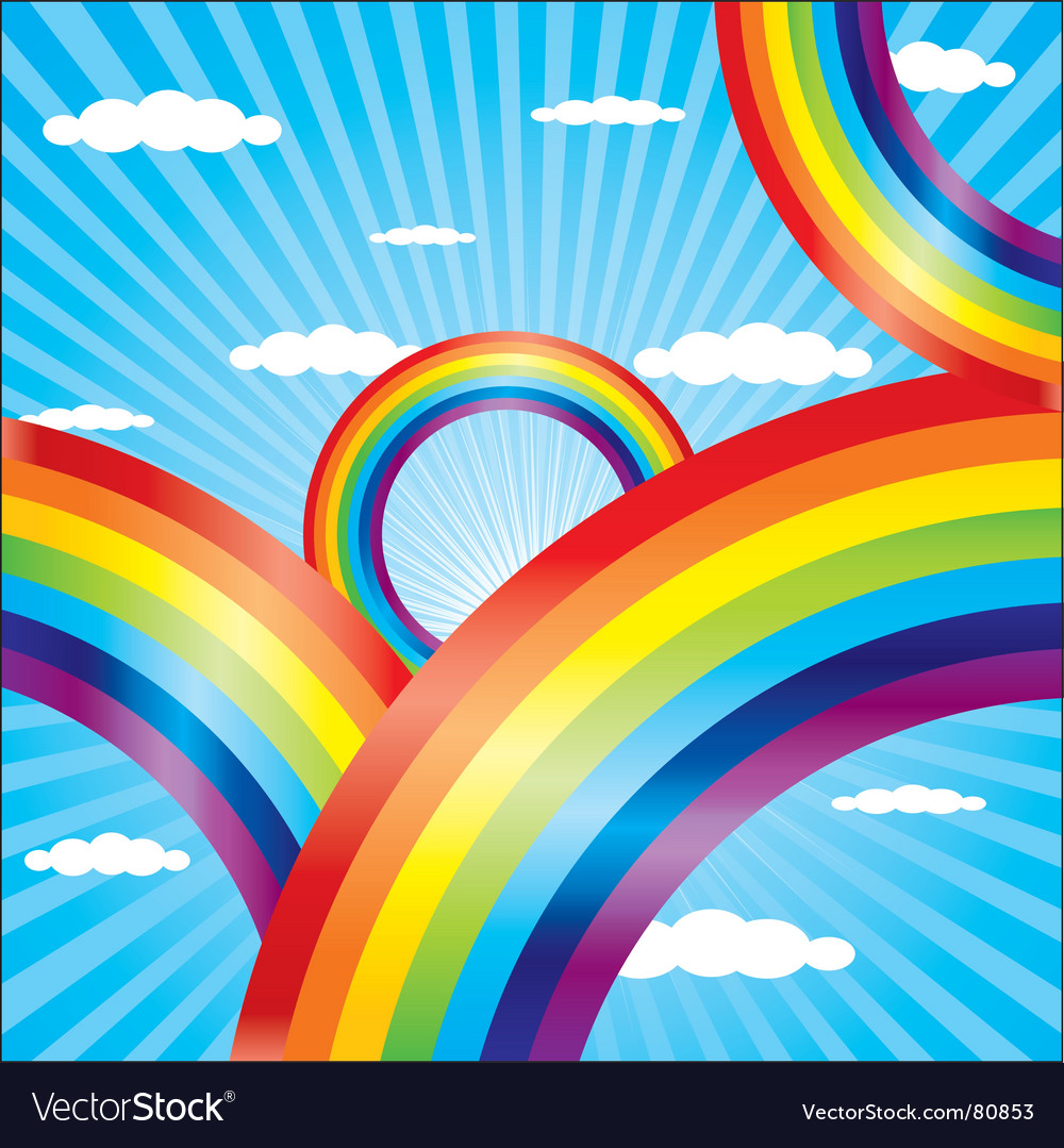 Colorful rainbow vector | Price: 1 Credit (USD $1)