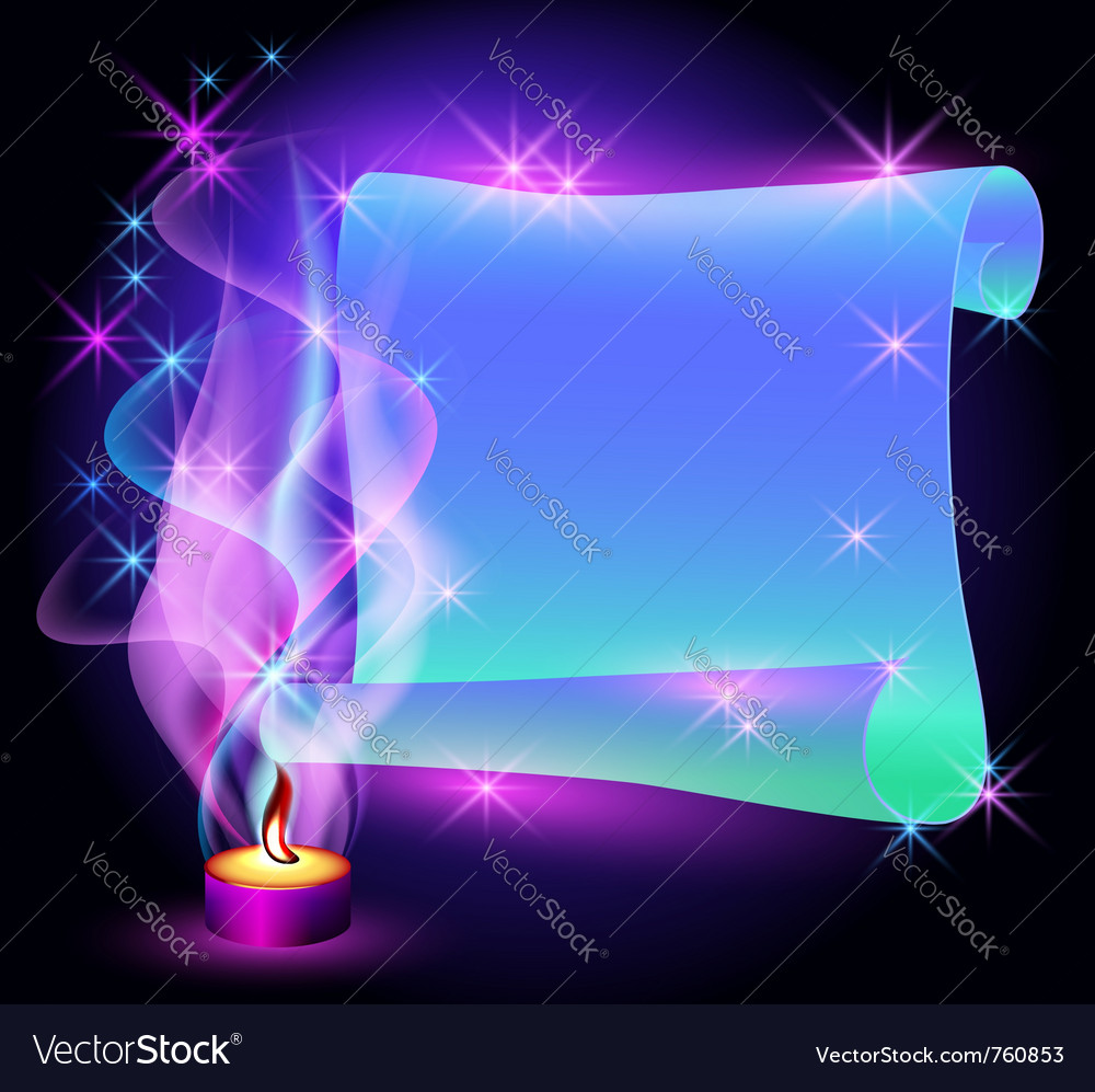 Folded magic parchment vector | Price: 1 Credit (USD $1)