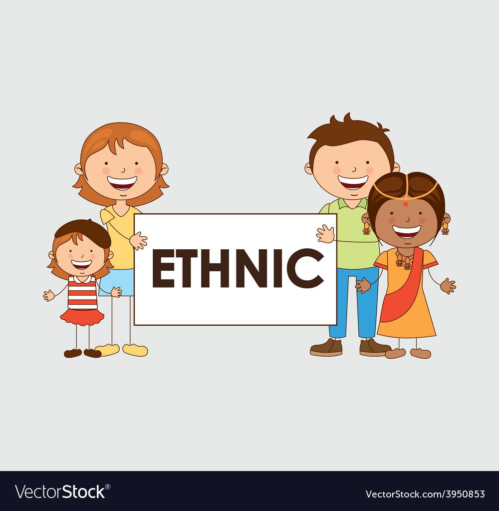 Multiethnic community vector | Price: 1 Credit (USD $1)