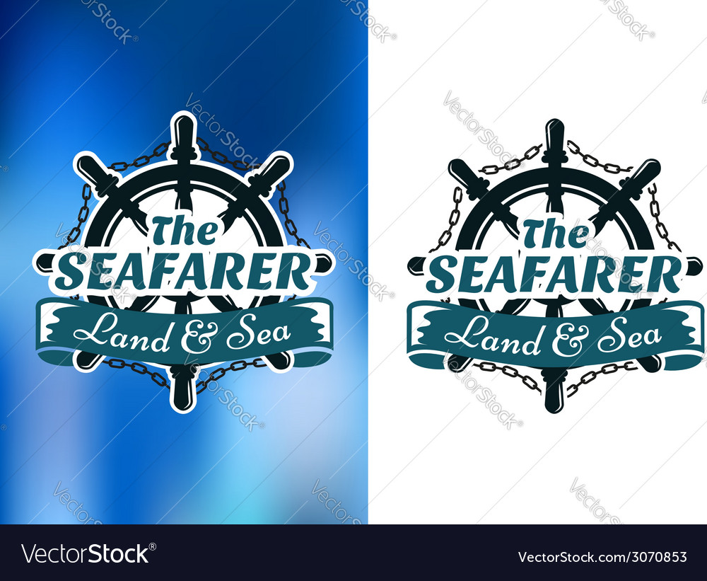 Nautical themed poster the seafarer vector | Price: 1 Credit (USD $1)