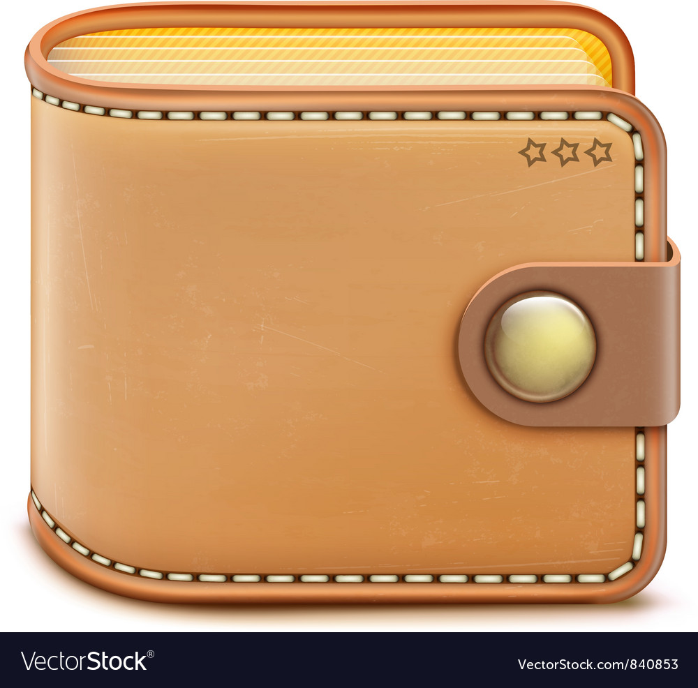 Realistic wallet vector | Price: 3 Credit (USD $3)