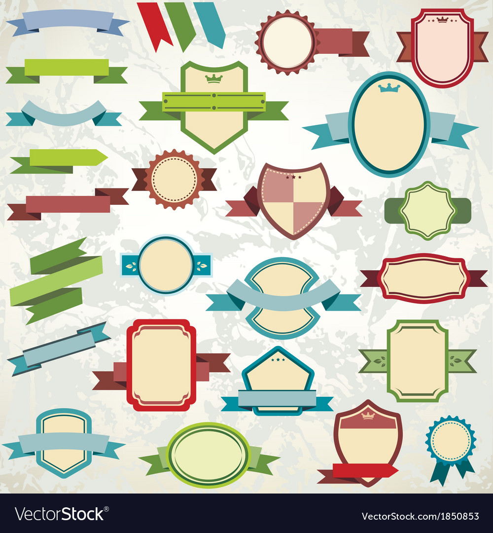 Ribbons template collection vector