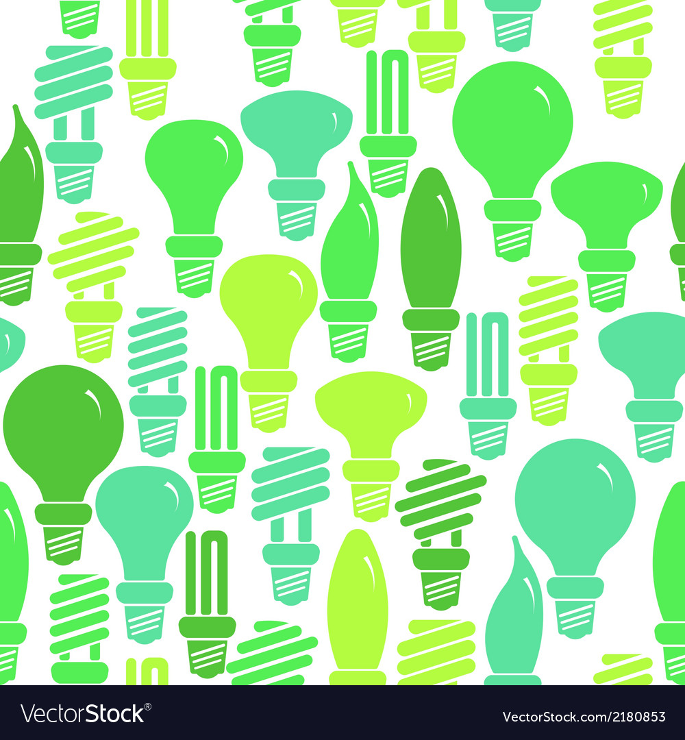 Seamless pattern with energy saving lamps vector | Price: 1 Credit (USD $1)