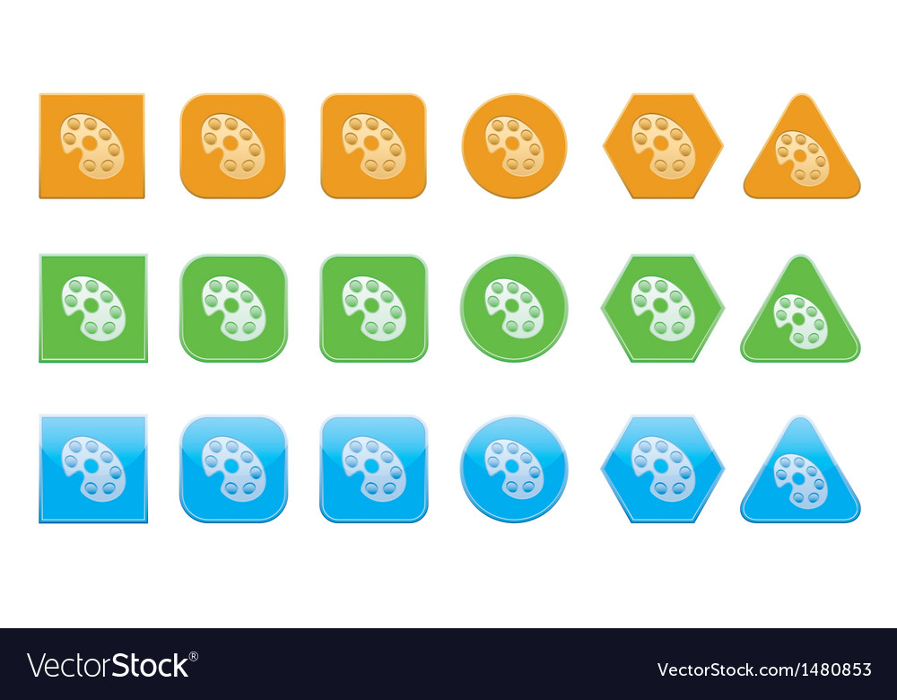 Set of palette icons vector