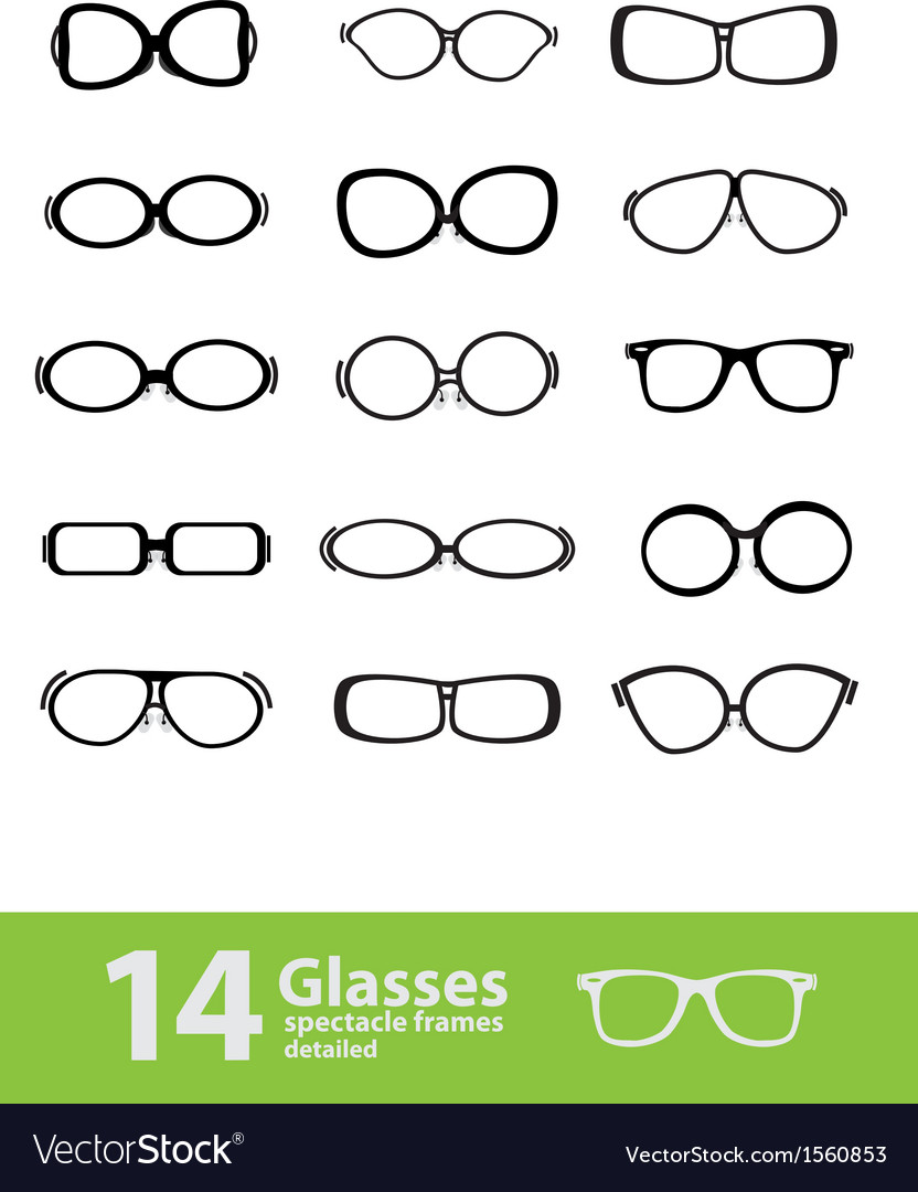 Spectacle frames vector | Price: 1 Credit (USD $1)