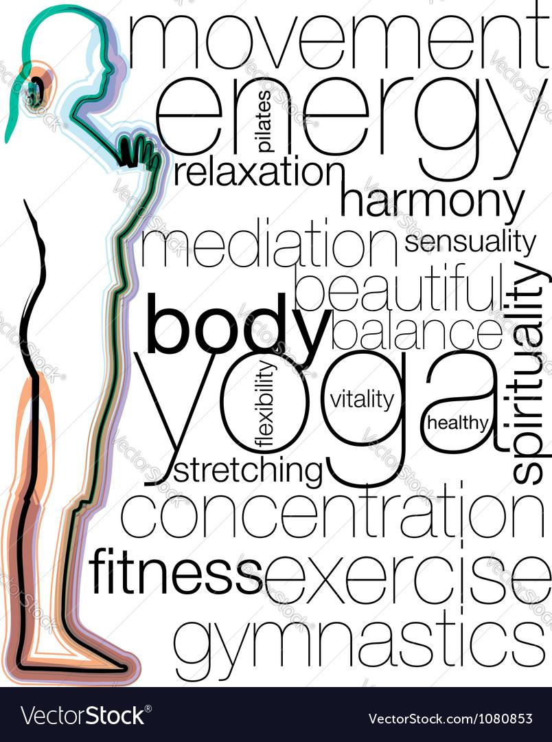 Woman meditating and doing yoga vector | Price: 1 Credit (USD $1)