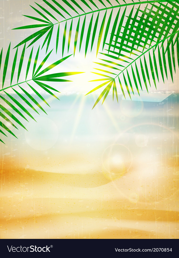Abstract summer poster with beach vector | Price: 1 Credit (USD $1)