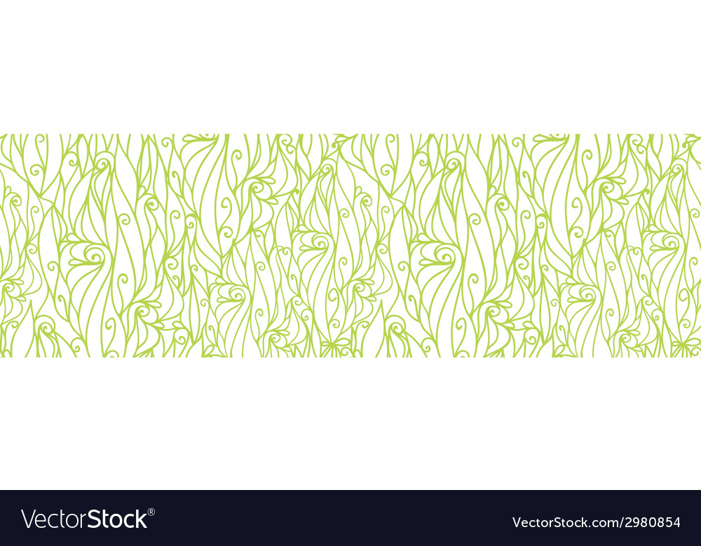 Abstract swirls texture horizontal border seamless vector | Price: 1 Credit (USD $1)