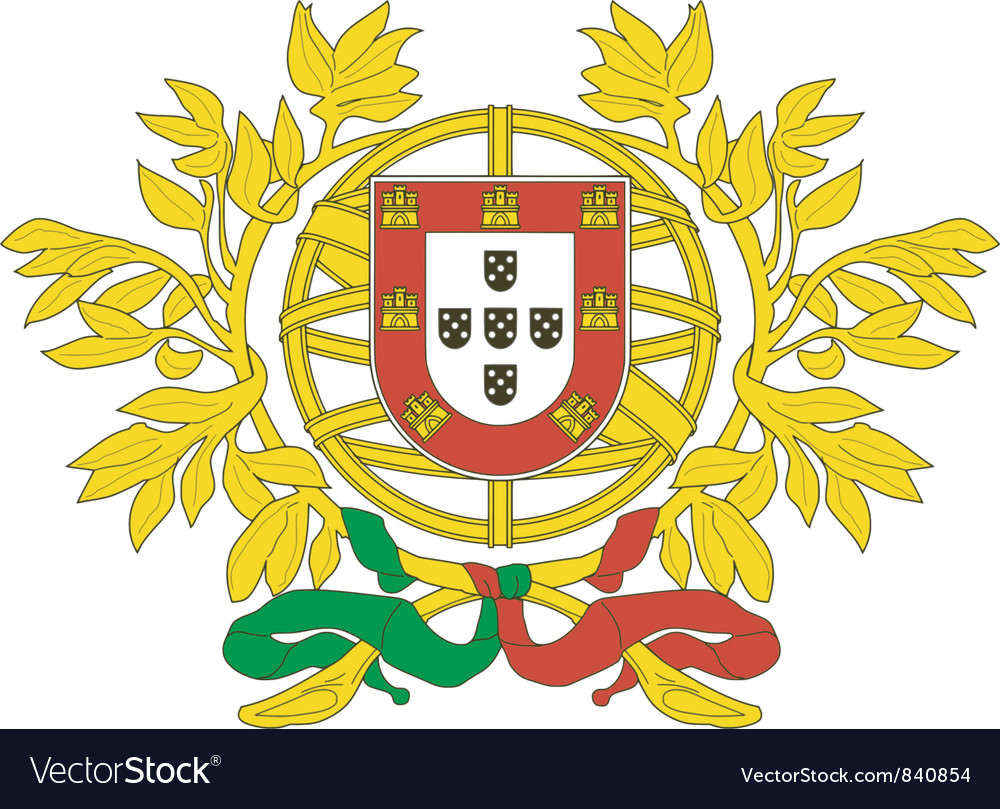 Coat of arms of portugal vector | Price: 1 Credit (USD $1)