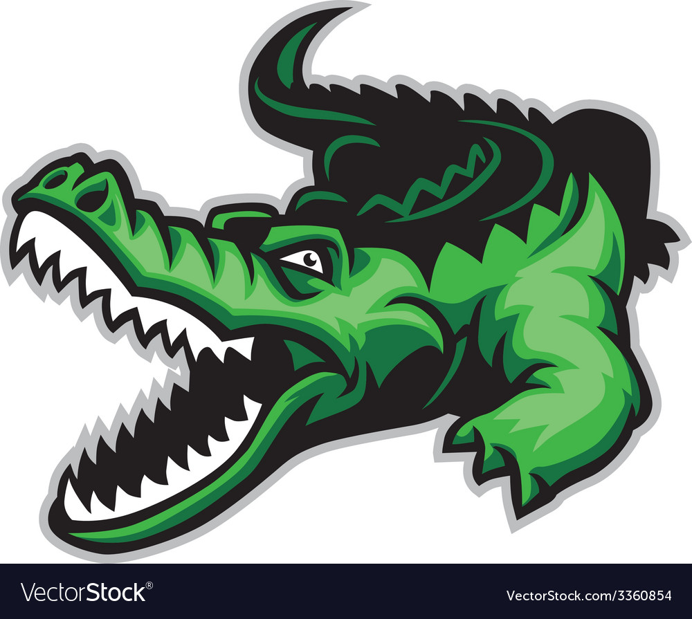 Crocodile vector | Price: 3 Credit (USD $3)