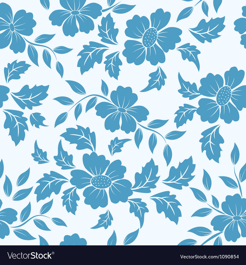 Flower seamless pattern element vector | Price: 1 Credit (USD $1)