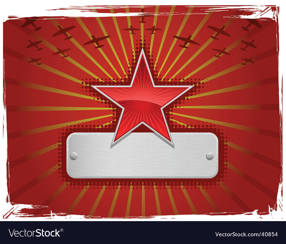 Grunge star vector | Price: 1 Credit (USD $1)