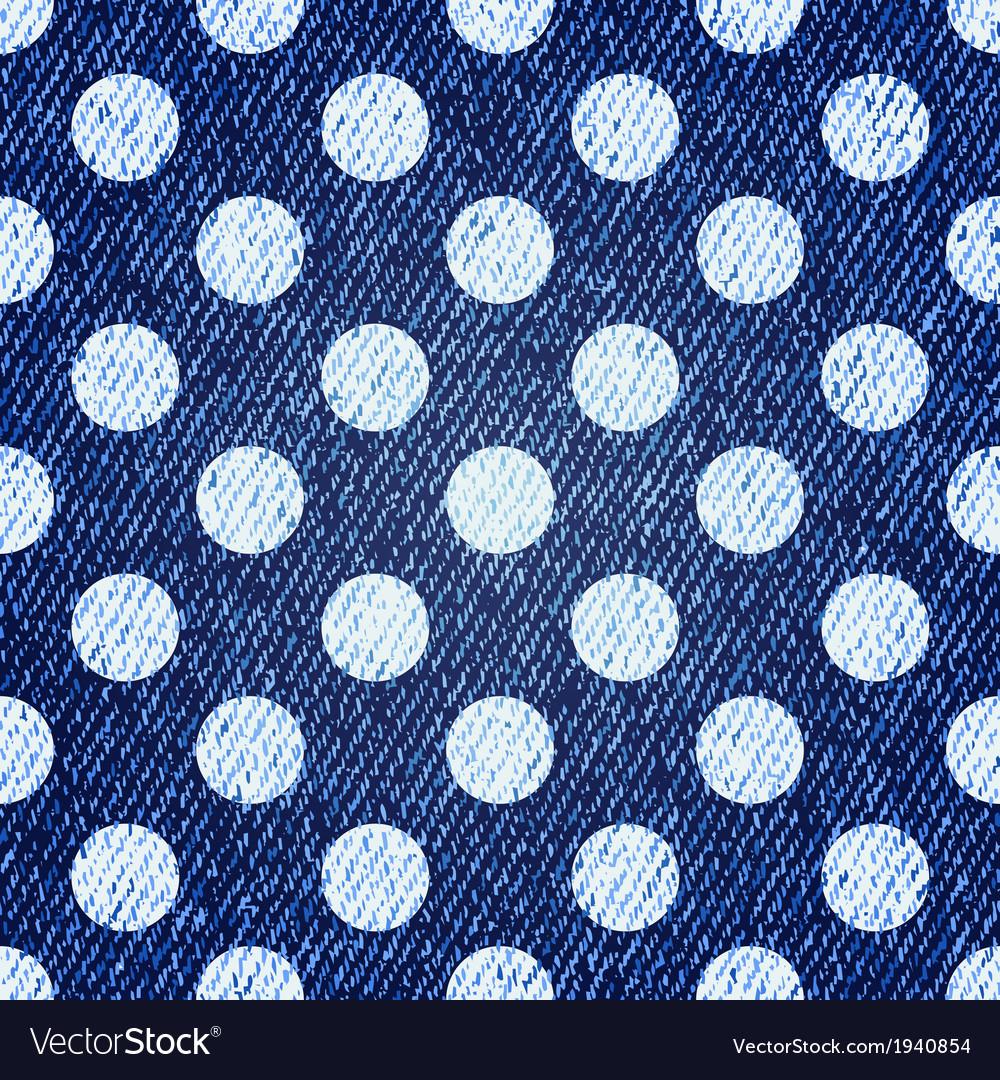 Jeans retro seamless polka-dot background vector | Price: 1 Credit (USD $1)