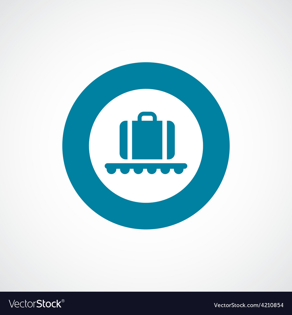 Luggage on airport icon bold blue circle border vector | Price: 1 Credit (USD $1)