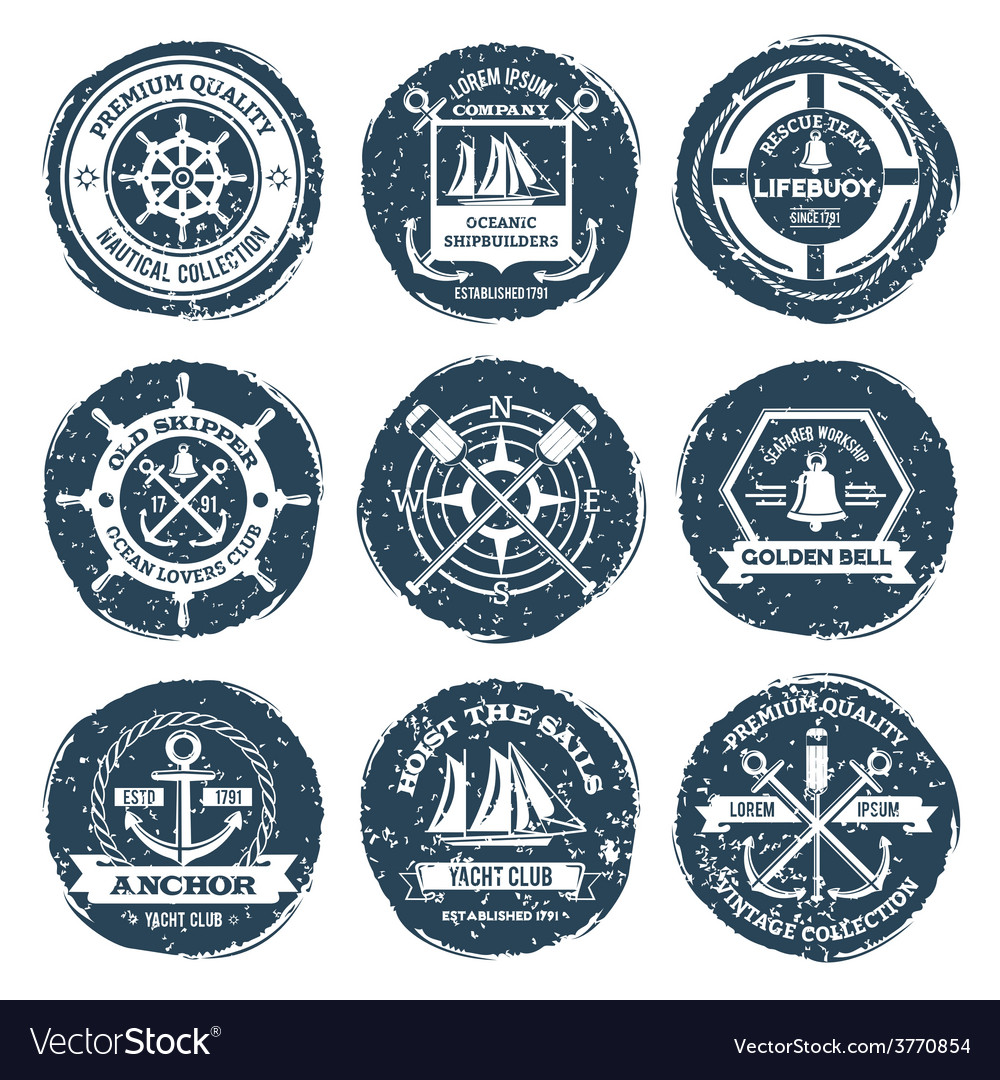 Nautical labels and stamps vector | Price: 1 Credit (USD $1)