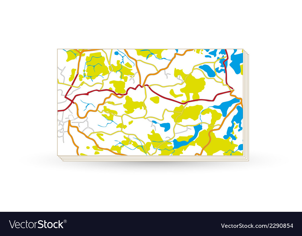 Paper map vector | Price: 1 Credit (USD $1)