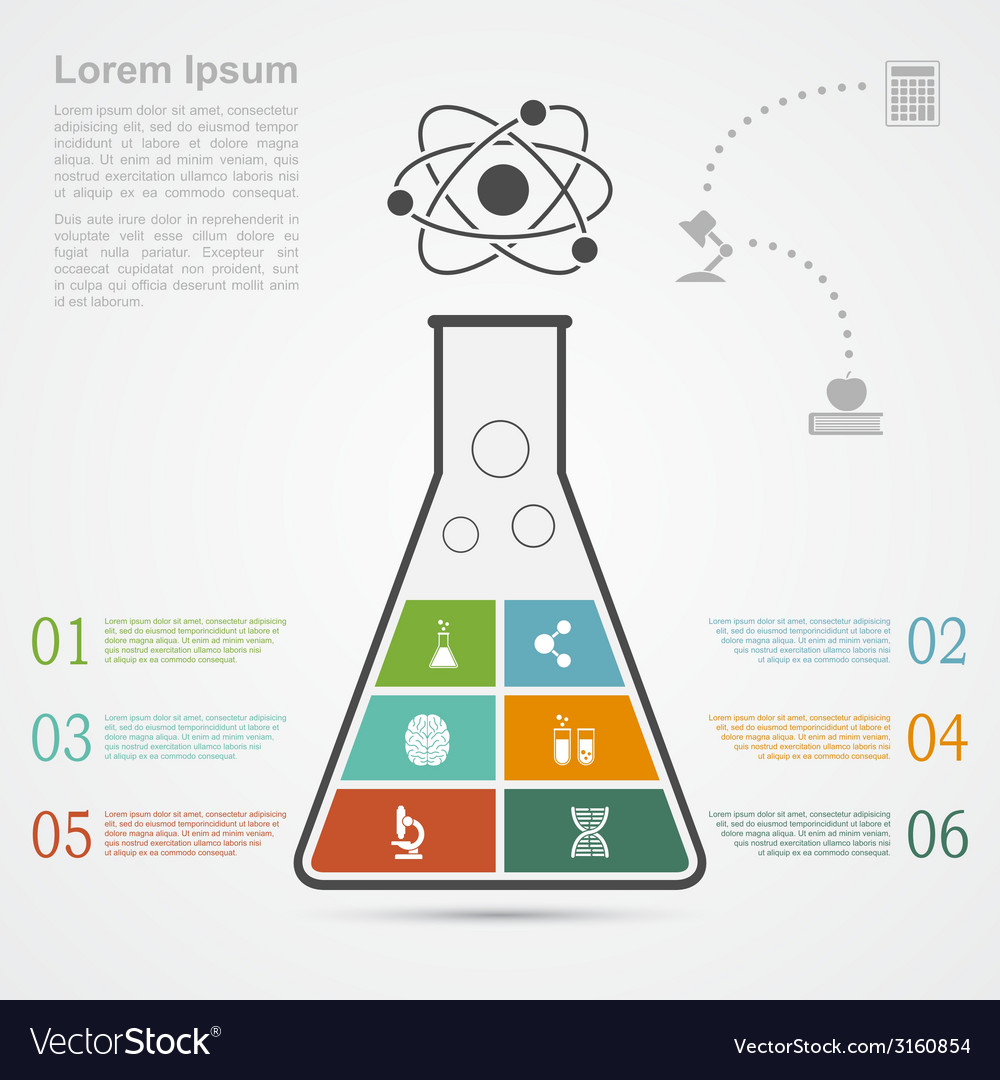 Science infographic vector | Price: 1 Credit (USD $1)