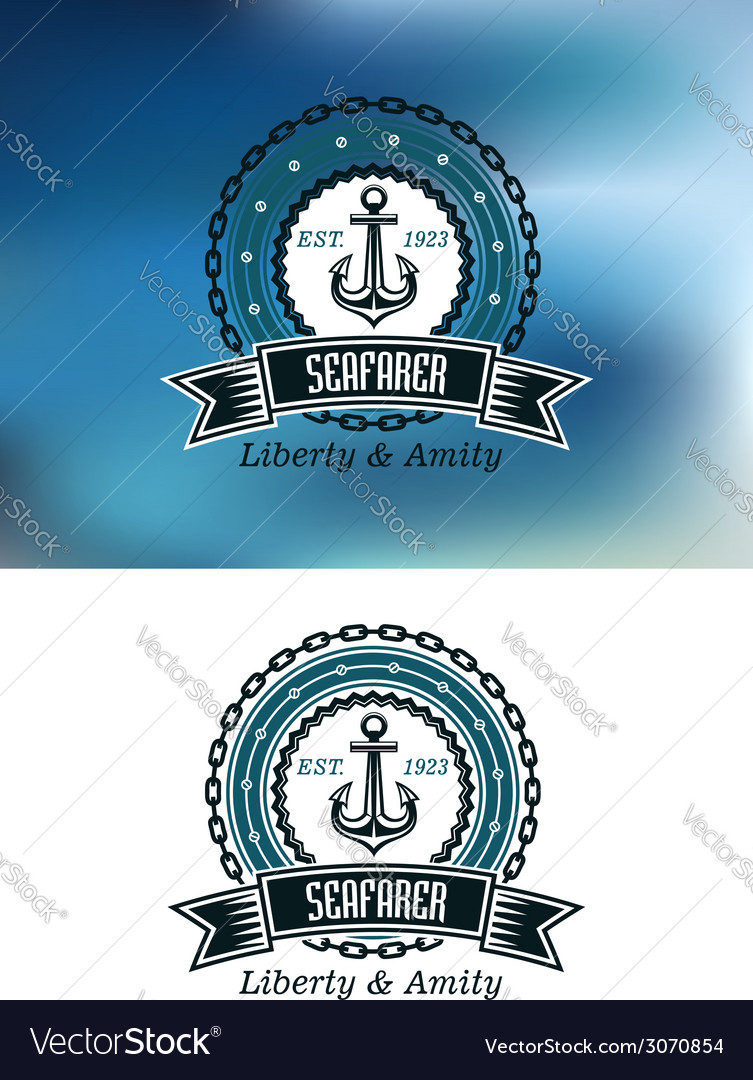 Seafarer badges or emblems vector | Price: 1 Credit (USD $1)