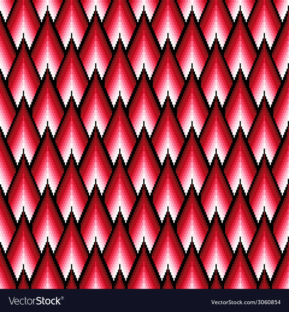 Seamless pattern with red elements vector | Price: 1 Credit (USD $1)