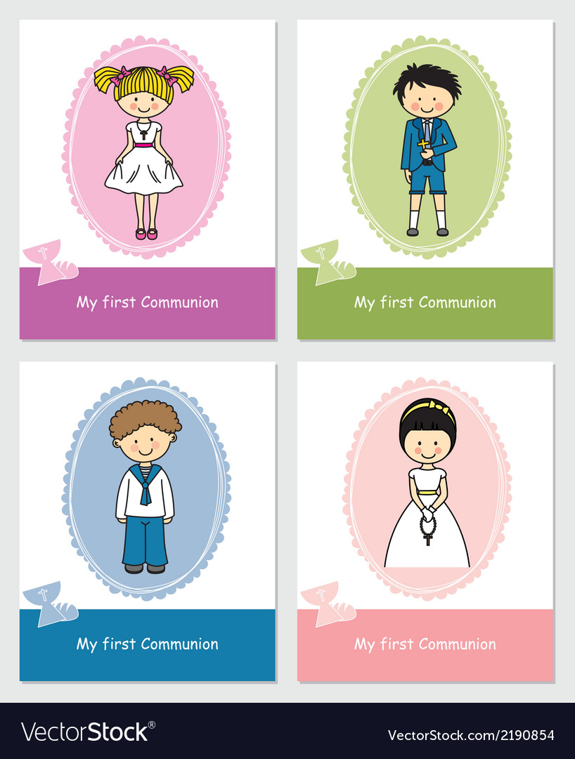 Set first communion vector | Price: 1 Credit (USD $1)
