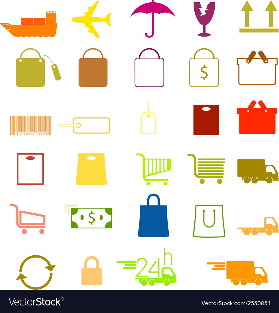 Set of shopping icons vector | Price: 1 Credit (USD $1)