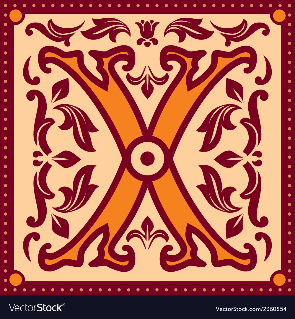 Vintage letter x vector | Price: 1 Credit (USD $1)