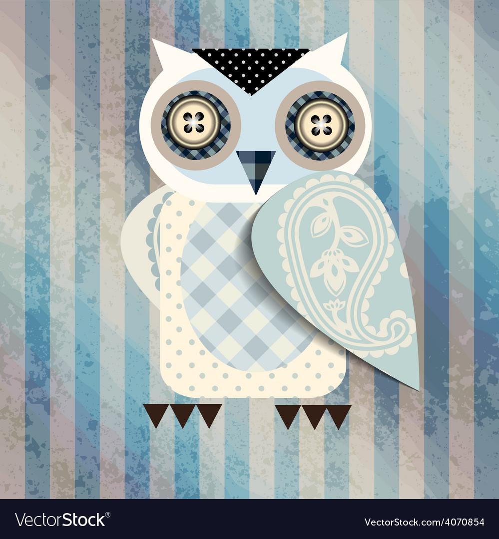 White cartoon owl vector   Price: 1 Credit (USD $1)