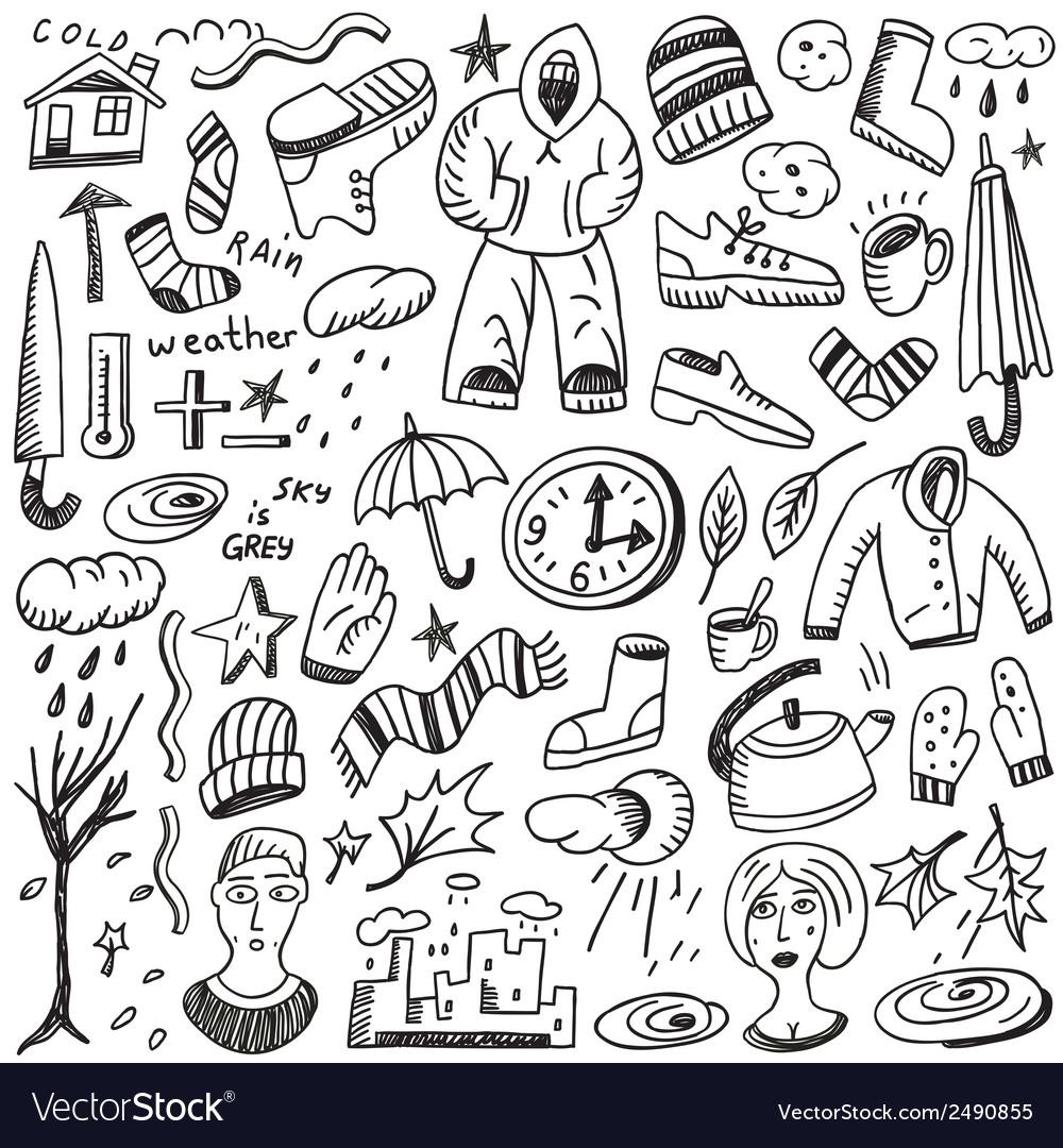 Autumn doodles vector | Price: 1 Credit (USD $1)