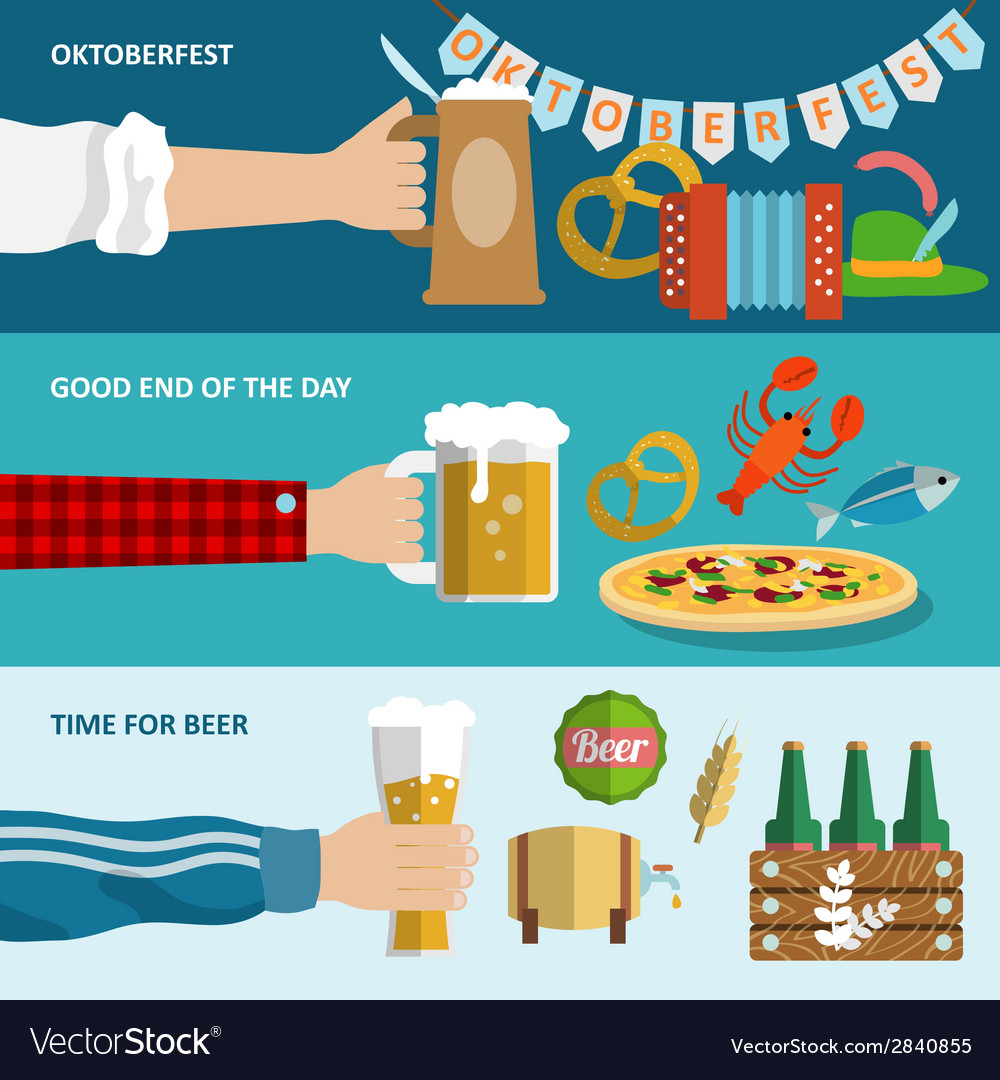 Beer banner set vector | Price: 1 Credit (USD $1)