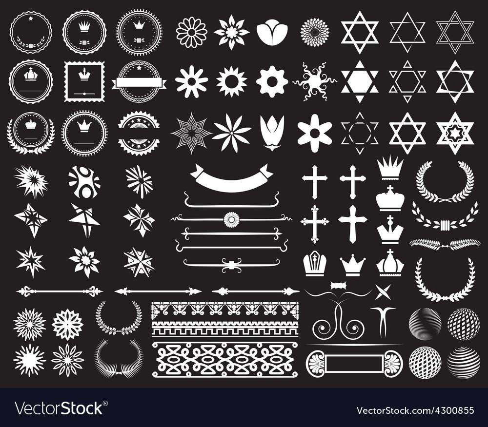 Big set of design elements resize vector | Price: 1 Credit (USD $1)