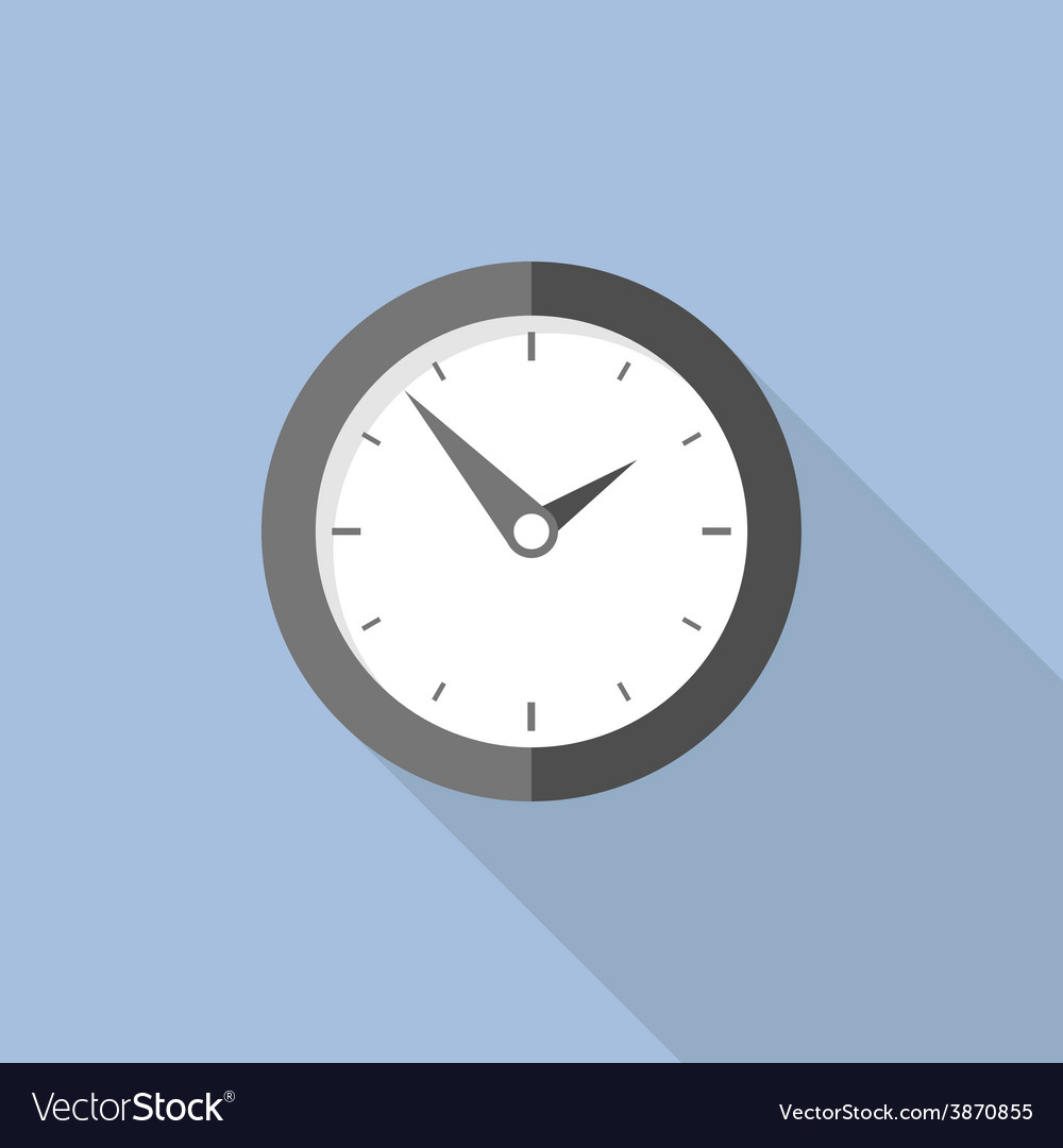 Clock flat icon world time concept internet vector | Price: 1 Credit (USD $1)