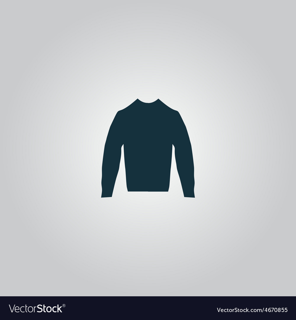 Clothing sweater pictogram vector | Price: 1 Credit (USD $1)