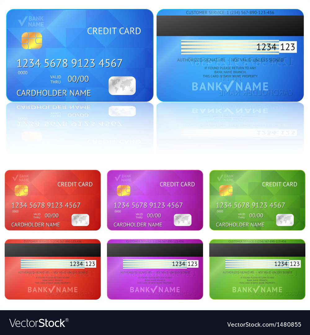 Credit card two sides vector | Price: 1 Credit (USD $1)