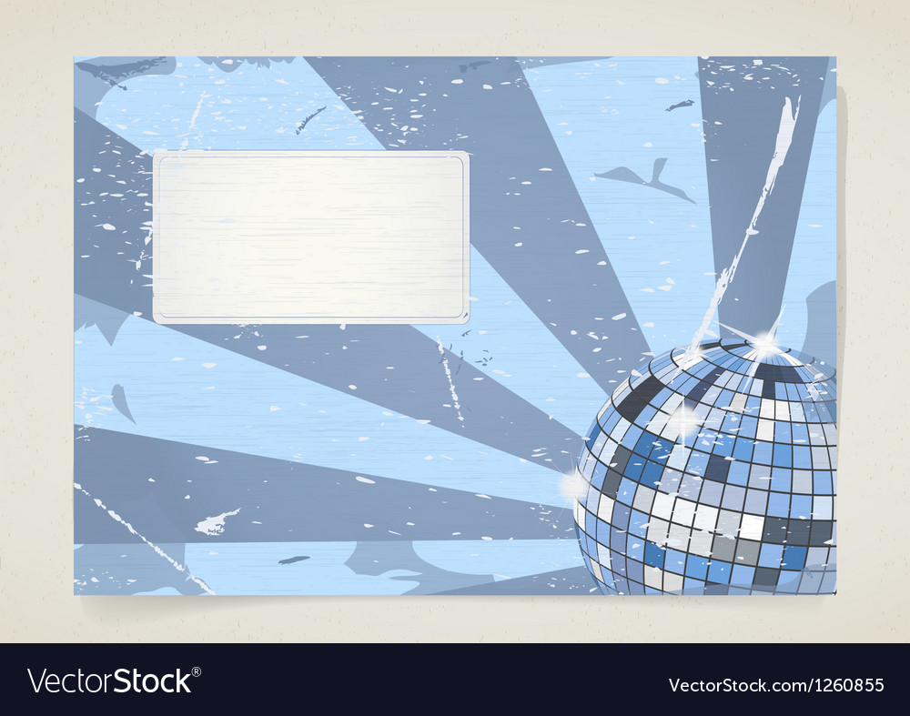 Disco grunge card vector | Price: 1 Credit (USD $1)
