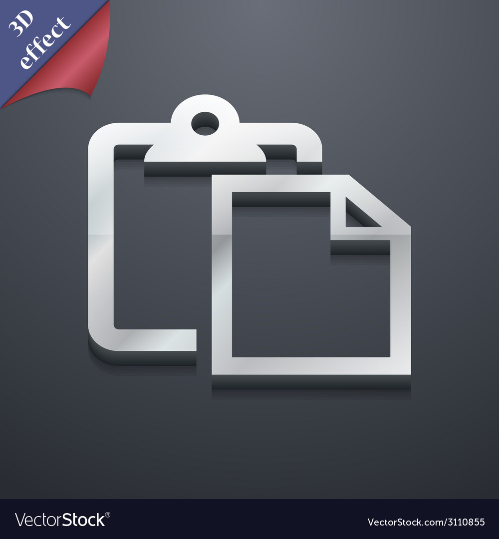 Edit document icon symbol 3d style trendy modern vector | Price: 1 Credit (USD $1)