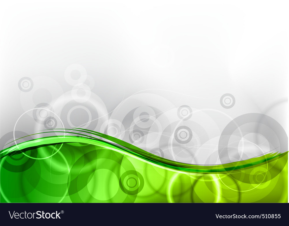 Green wave vector | Price: 1 Credit (USD $1)