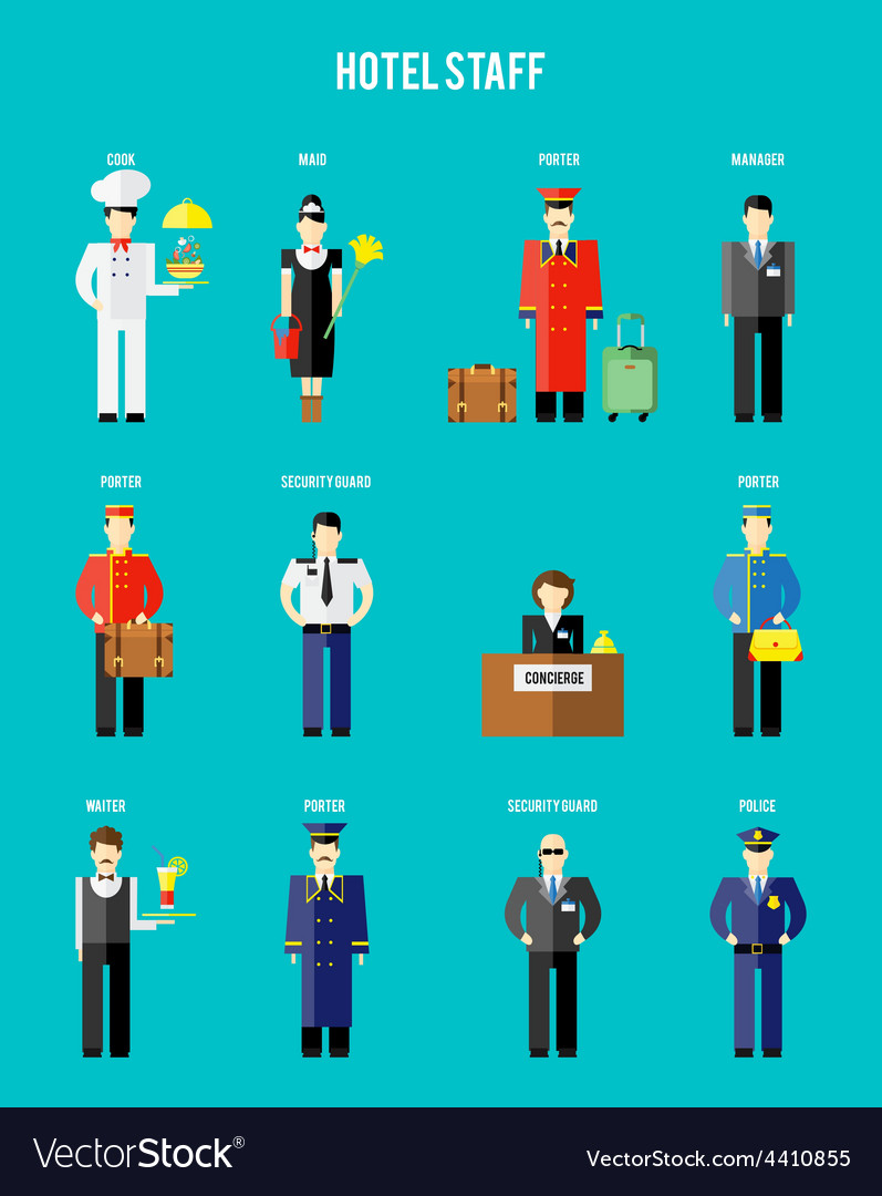 Hotel staff vector | Price: 1 Credit (USD $1)