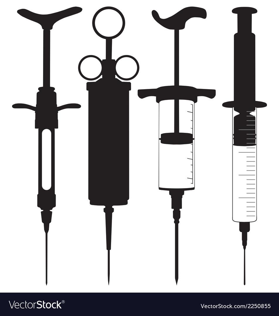 Hypodermic syringes vector